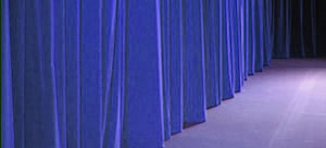 Eample of soundproofing curtain used in studio - NoiseBlockCloth